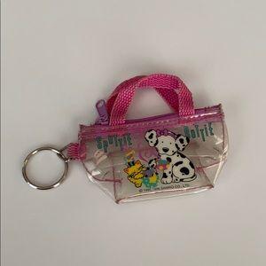 Vintage Sanrio Spottie Dottie Clear Pouch Keychain